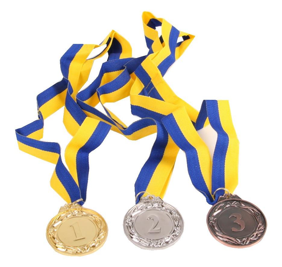 Медали золото, серебро, бронза