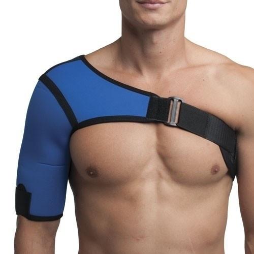 Бандаж плечового суглобу неопреновий синій