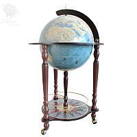 """Акция! Бесплатная доставка напольного глобус-бара Zoffoli """"Da Vinci"""" d 40 см (Blue dust)"""