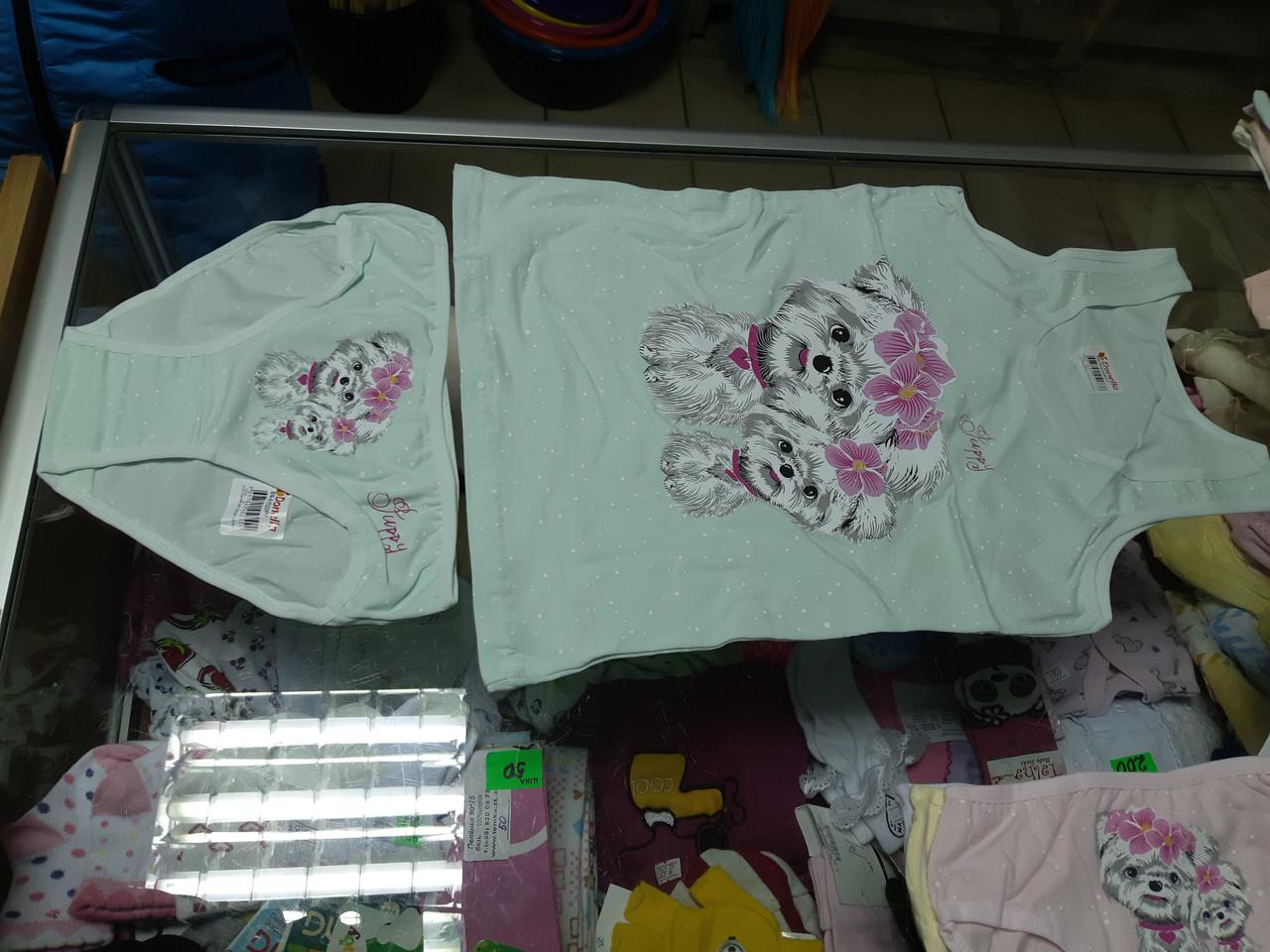 Комплект дитячий білизна Donella труси і майка р. 4-5