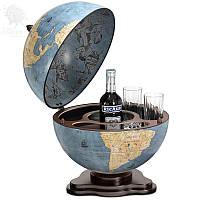"""Акция! Бесплатная доставка настольного глобус-бара Zoffoli """"Galileo"""" d 40 см (Blue dust)"""