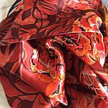 Платок шелковый (атлас) 10153-5, павлопосадский платок (атласный) шелковый с подрубкой, фото 10