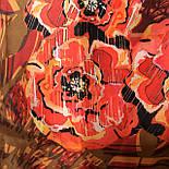 Платок шелковый (атлас) 10153-5, павлопосадский платок (атласный) шелковый с подрубкой, фото 5