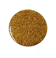 Попсокет для телефона блестящий  «Popsocket party» круглый яркий для девушек (жёлтый)