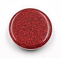 Попсокет для телефона блестящий  «Popsocket party» круглый яркий для девушек (красный)