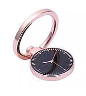 Кольцо-подставка/попсокет для телефона «Ancient timers» металлический (розовое золото)