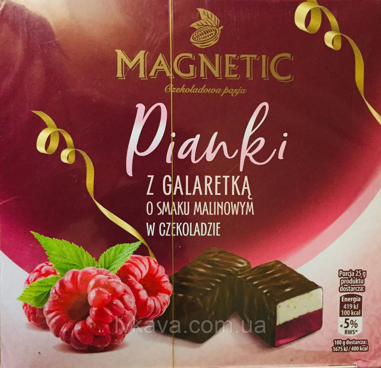Конфеты желе в шоколаде Magnetic со вкусом  малины  , 380 гр