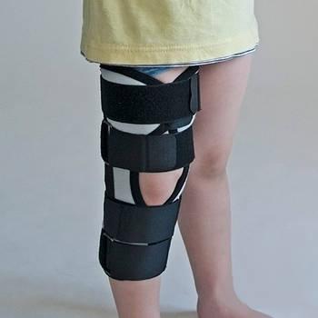 Бандаж тутор на колінний суглоб  сірий