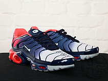 Мужские кроссовки Nike Air Max Plus Hyperfuse Midnight Navy University Red 483553-416, фото 3