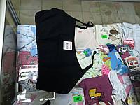 Детский черный топ бюстгальтер для девочки р.128 -158