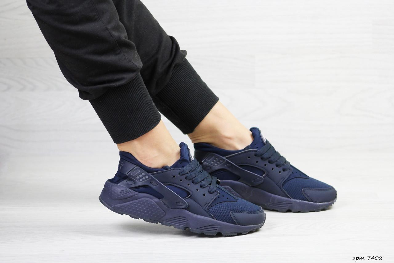 Женские кроссовки Nike Huarache (Темно-синие)