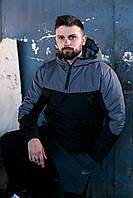 Мужской ЗИМНИЙ костюм Анорак + Штаны + СКИДКА! Черный+серый