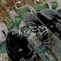 Полуторная простынь из ранфорса - Пантеры в джунглях