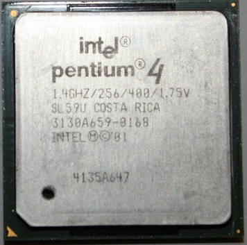 Процессор Intel Pentium 4 1.40GHz/256/400 (SL59U) s478, tray