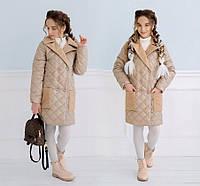 """Детское пальто для девочки 445 """"Плащёвка Кашемир"""" в разных расцветках"""