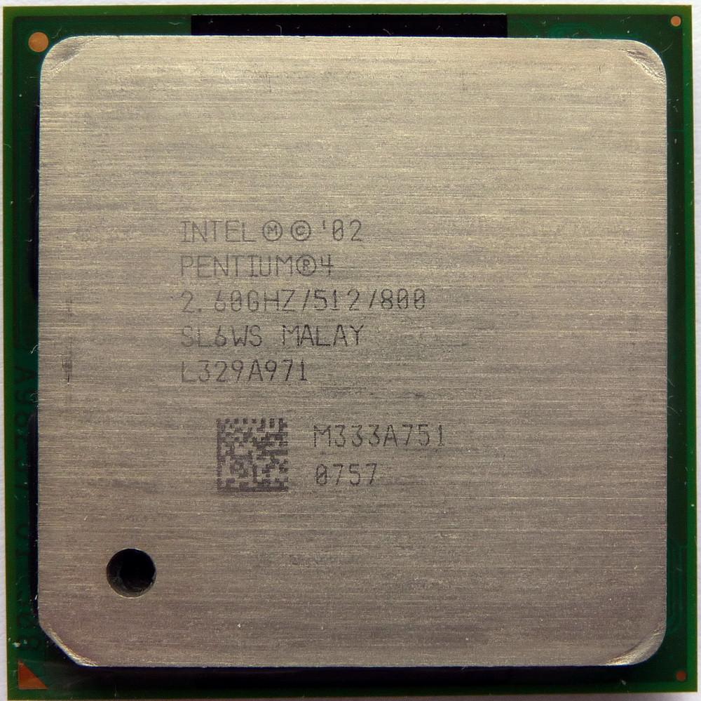 Процессор Intel Pentium 4 2.60GHz/512/800 (SL6WS) s478, tray