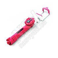 Штатив Monopod WXY-01 + (трипод + пульт) 19-65 см розовый