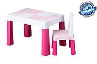 Комплект детской мебели Tega Baby MULTIFUN (стол + стульчик), розовый