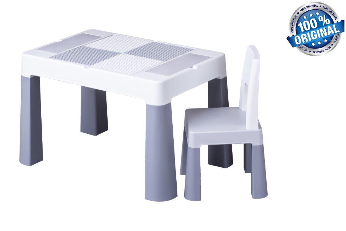 Комплект детской мебели Tega Baby MULTIFUN (стол + стульчик), серый