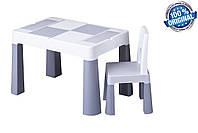 Комплект детской мебели Tega Baby MULTIFUN (стол + стульчик), серый, фото 1