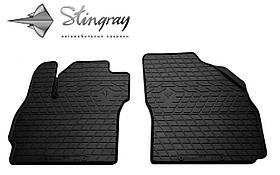 Передние резиновые коврики Mazda 5 2005-2010 (2 шт) Stingray 1011142