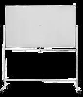 Доска 90х150 см. поворотная двухсторонняя на колесах под маркер, магнитная, сухостираемая Buromax