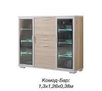 Комод-Бар с прозрачным стеклом Нео Сонома (Скай ТМ)