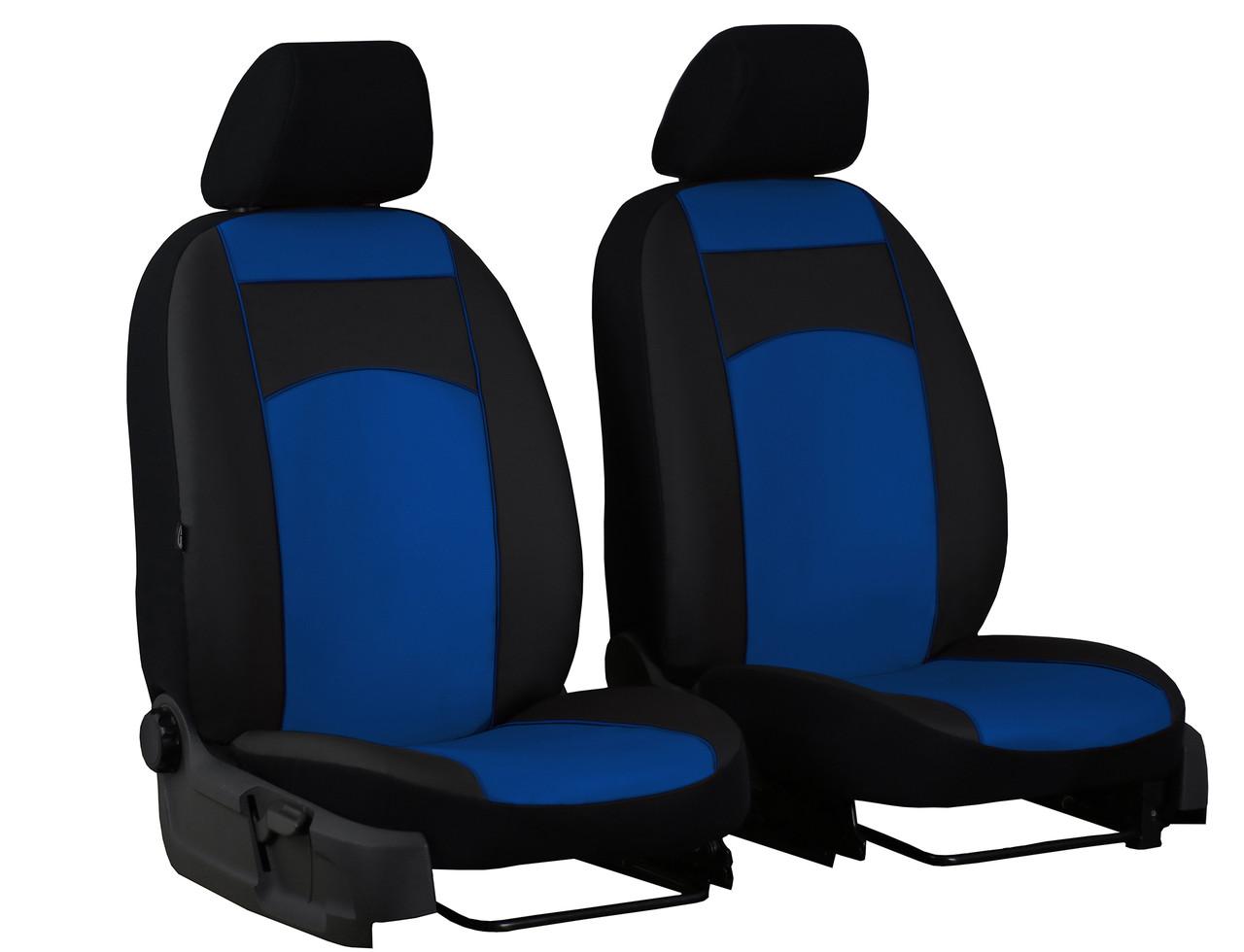 Авточохли універсальні Pok-ter Standart 1+1 з екошкіри синій