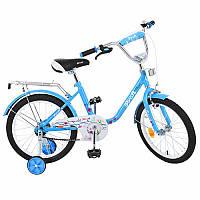 Дитячий двоколісний велосипед для дівчинки PROFI 18 дюймів Flower, блакитний L1884