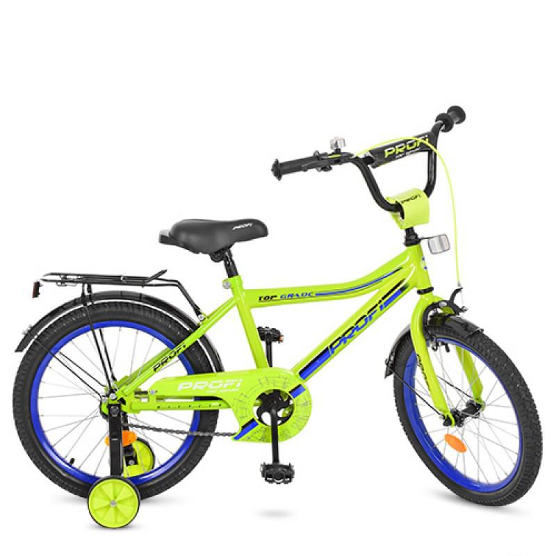 Детский двухколесный велосипед PROFI 18 дюймов Top Grade, салатовый Y18102