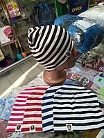 Шапка детская двойной трикотаж для мальчика р.48-54