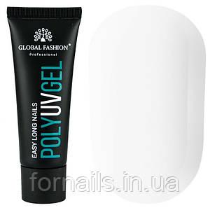 Полигель Global Fashion Poly UV Gel №08 30 мл, снежно белый