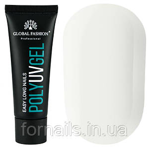 Полигель Global Fashion Poly UV Gel №07 30 мл, молочно белый