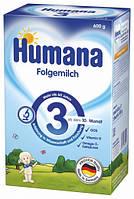 Сухая молочная смесь Humana 3 с пребиотиками галактоолигосахаридами (ГОС) и яблоком, 600 г