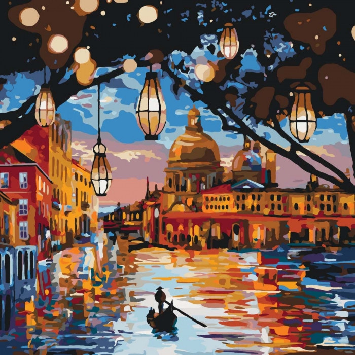 Картина по номерам Огни Венеции 40 х 40 см (KHO2183)
