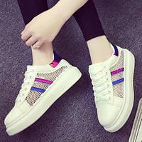 Розовые кроссовки с сеткой, фото 1