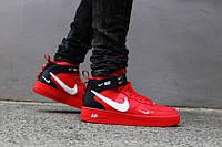 Кроссовки мужские в стиле Nike Air Force 1 TM Red (Реплика ААА+)