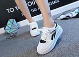 Белые кроссовки на высокой подошве, фото 2