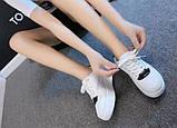 Белые кроссовки на высокой подошве, фото 3
