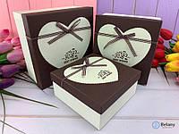 Универсальная коробка-подарок для декора органайзер для дома квадратная шкатулка с сердцем шоколадная