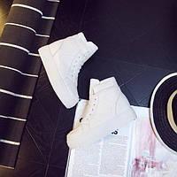 Белые высокие кроссовки, фото 1