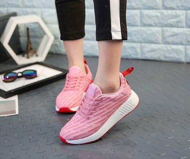 Розовые женские кроссовки на каждый день