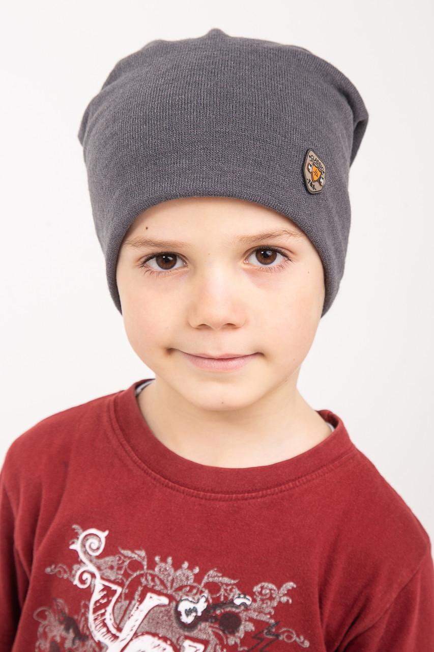 Однотонная весенняя шапка для мальчика - весна 2019 - Артикул 2431