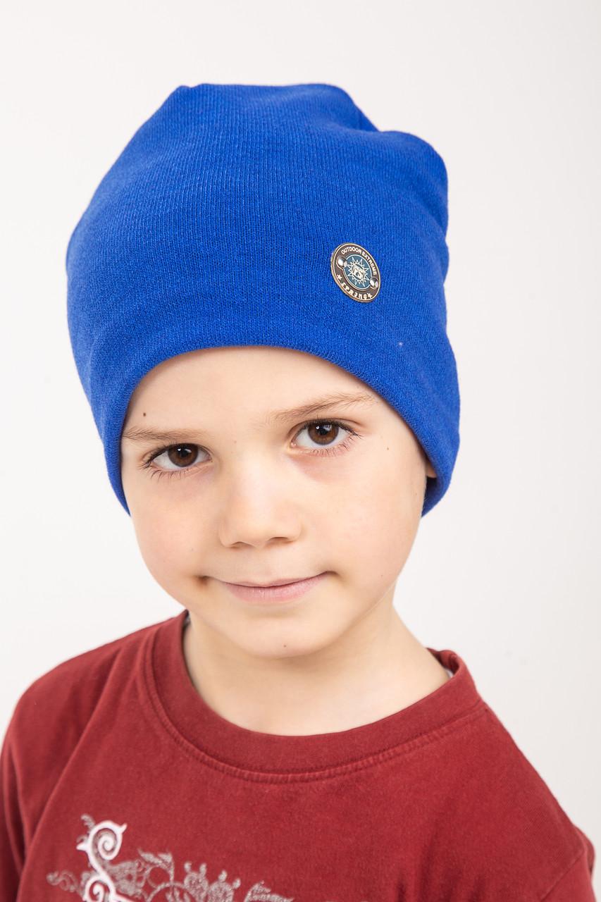 Однотонная весенняя шапка для мальчика - модель 2019 - Артикул 2432