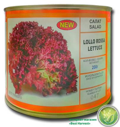 Семена салата «Лолло Росса» 200 г, инкрустированные (Vitas), фото 2