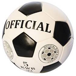 М'яч футбольний ламінований EN 3217, розмір 5, ПУ, Official, 400-420гр
