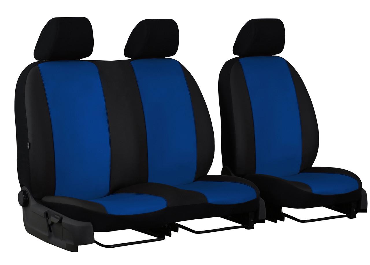 Авточохли універсальні Pok-ter Standart 2+1 з екошкіри синій