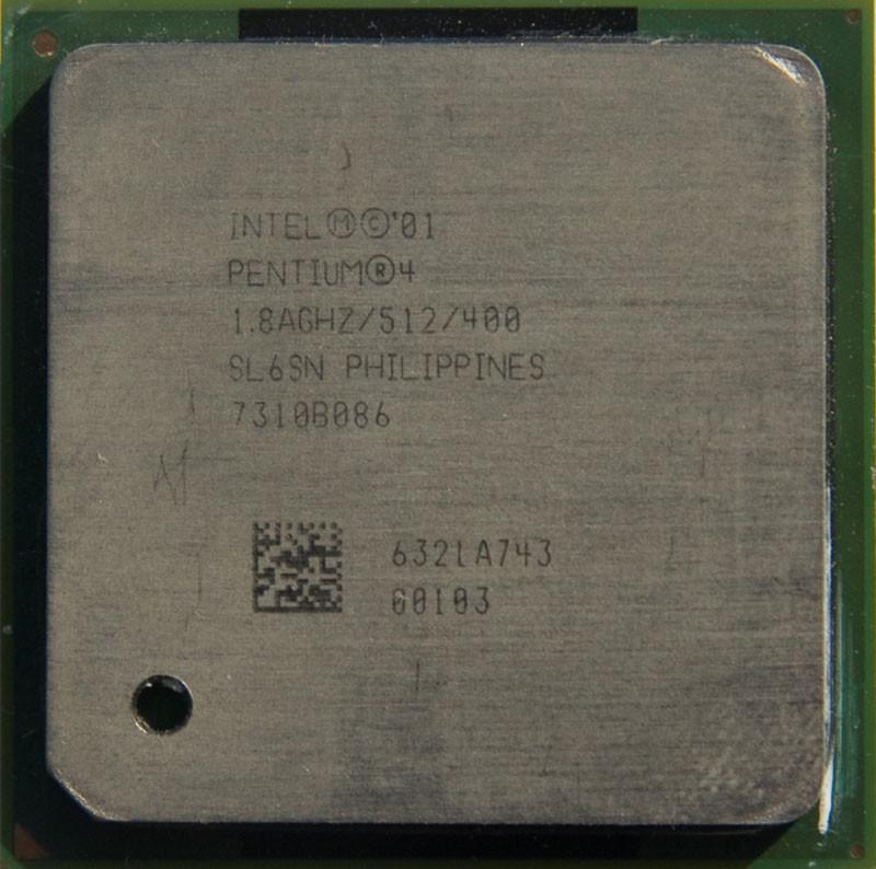 Процессор Intel Pentium 4 1.80GHz/512/400 (SL6SN) s478, tray