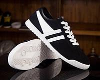 Черные кроссовки с белыми полосками, фото 1