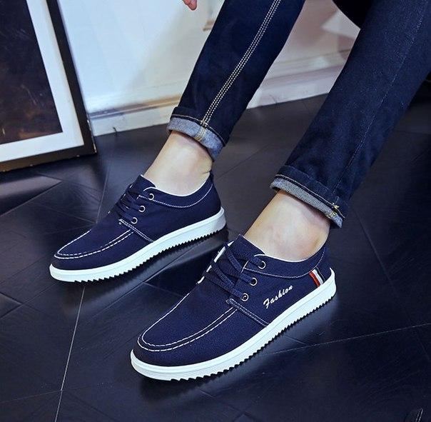 Легкие синие мужские кроссовки за низкой ценой